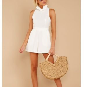 Stop for nothing white romper